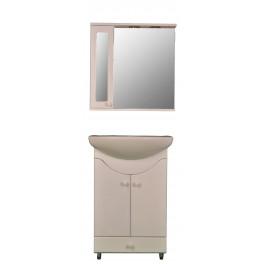 Mobila de baie cu oglinda alb - MBALB060